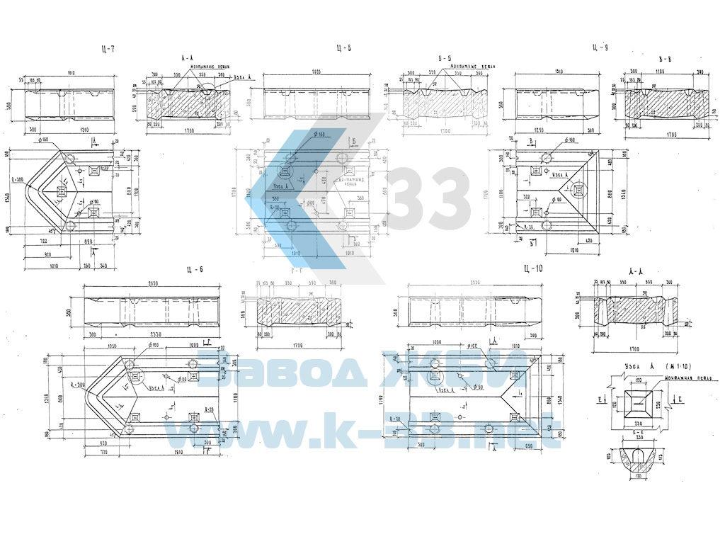 Блоки стенок, цокольной части. Серия 3.503-23 в. 7