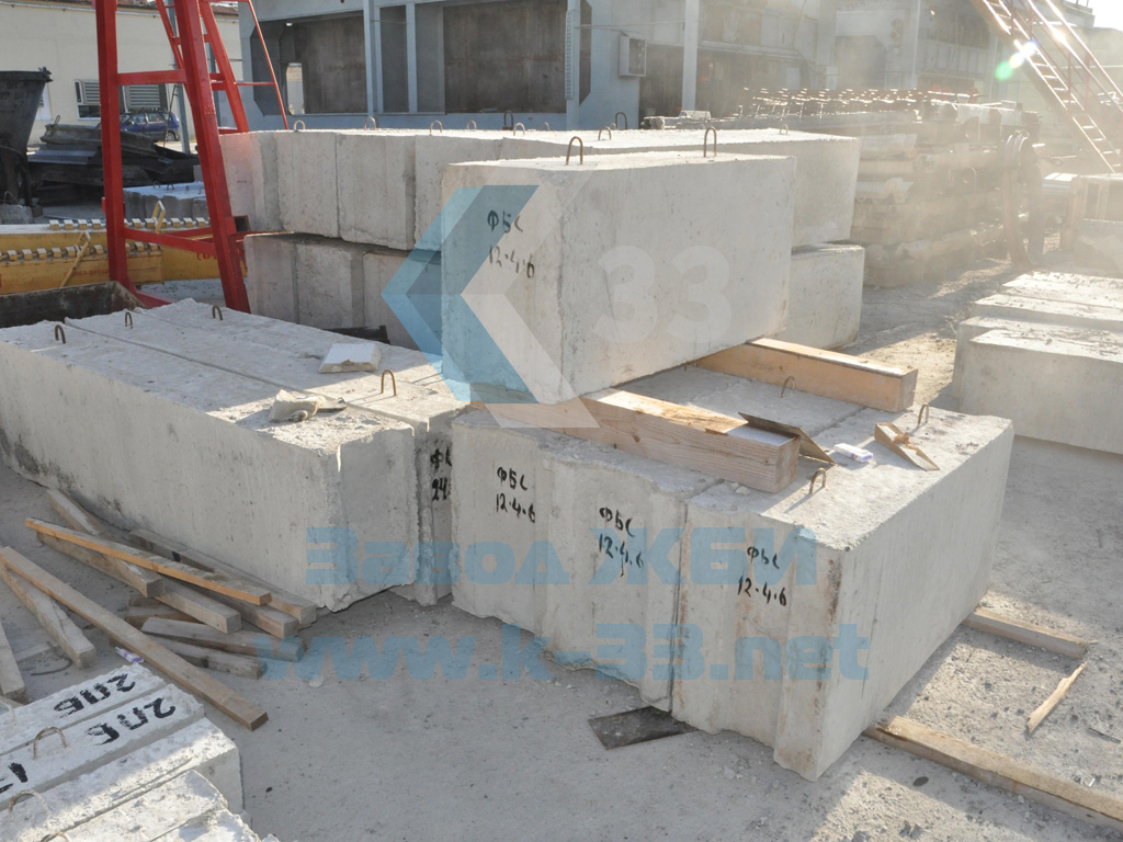 Фундаментный блок железобетонный ФБС12.4.6-Т - фото