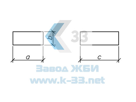 Блок фундамента Ф1 - чертеж
