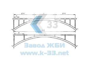 Конструкции для устройства железобетонных арочных мостов. Альбом № 3772