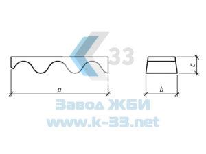 Блоки лотка Л1 для труб из гофрометалла 150х50 мм. Серия 3.501.3-185.03