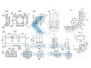 Блоки упора, плиты  для укрепления русел, конусов и откосов насыпи. Серия 3.501.1-156 в. 1