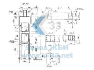 Колонны железобетонные для открытых крановых эстакад. Серия 3.013.9-1 в. 1