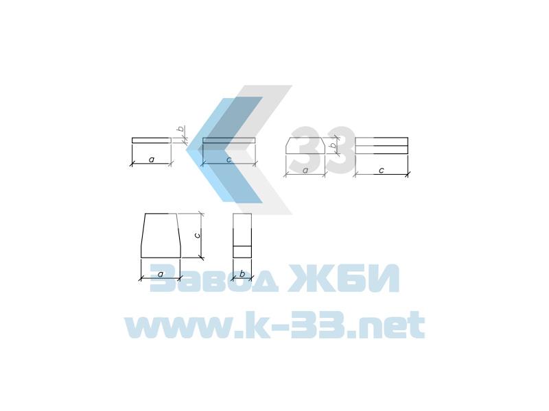 Блоки фундамента для круглых водопропускных труб с плоским опиранием. Шифр 2175РЧ, в. 1-1.