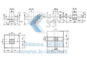 Малозаглубленные фундаменты для стальных опор ВЛ 35-500 кВ. Серия 3.407.1-159 в. 1