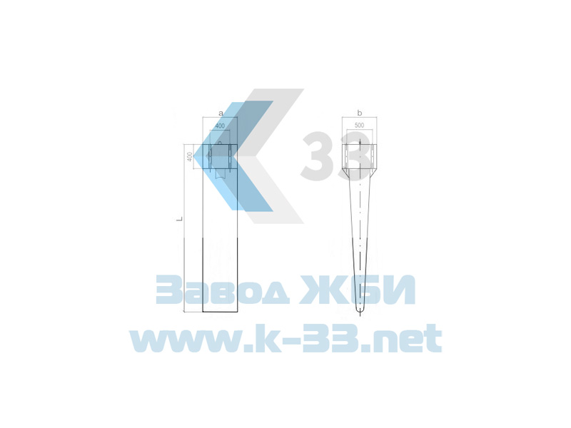 Фундамент клиновидный железобетонный ФКА-117-4,0 - фото