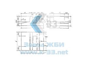 Блоки фундаментов для прямоугольных сборных водопропускных труб. Серия 3.501.1-179.94