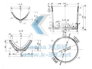 Железобетонные кольца шахтных колодцев, плиты, резервуары, лотки. Серия 3.820-23 в. 1