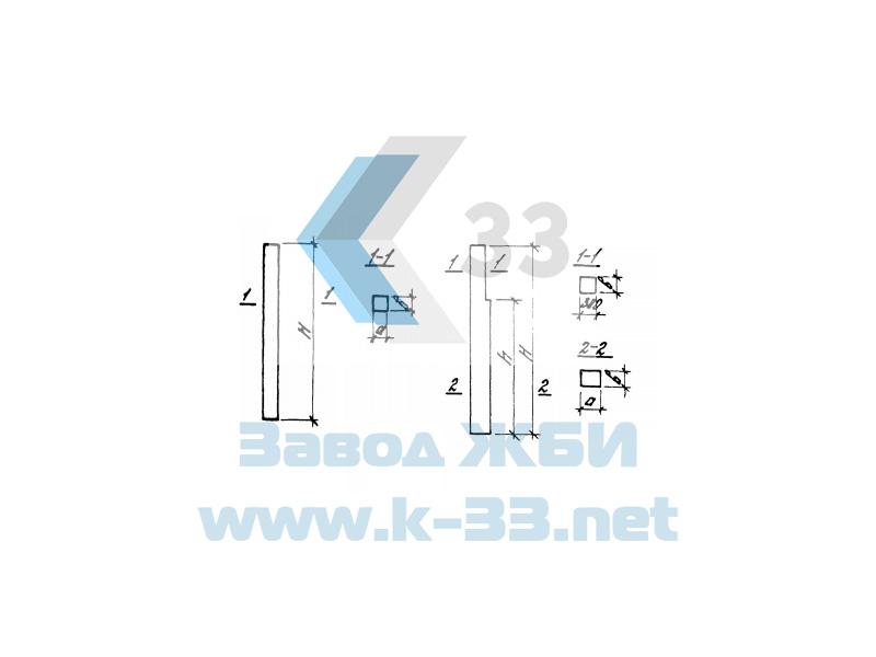 Колонны железобетонные. Серия 1.427.1-3, в. 1
