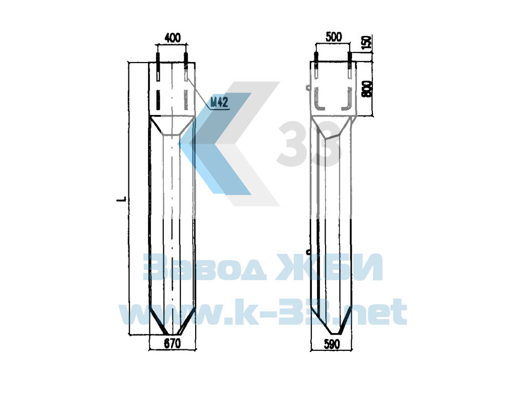 Фундаменты трёхлучевые с анкерным креплением ТСП. Проект 4182И