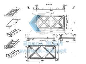 Лотки, плиты решетчатые, распорные блоки осушительных каналов. Серия 3.820.1-69 в. 1