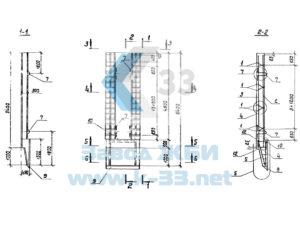 Панели стеновые для опускных колодцев. Серия 3.902.1-12 в. 1
