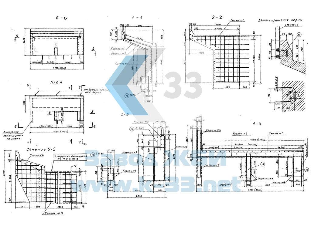Шкафные блоки Ш-1, Ш-2. Серия 3.501-61