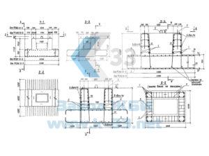 Фундаментные блоки для опор автодорожных мостов под БелАЗ-540. Серия 3.503.1-76 в. 1