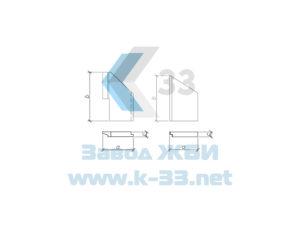 Откосные стенки для железобетонных водопропускных труб с плоским опиранием