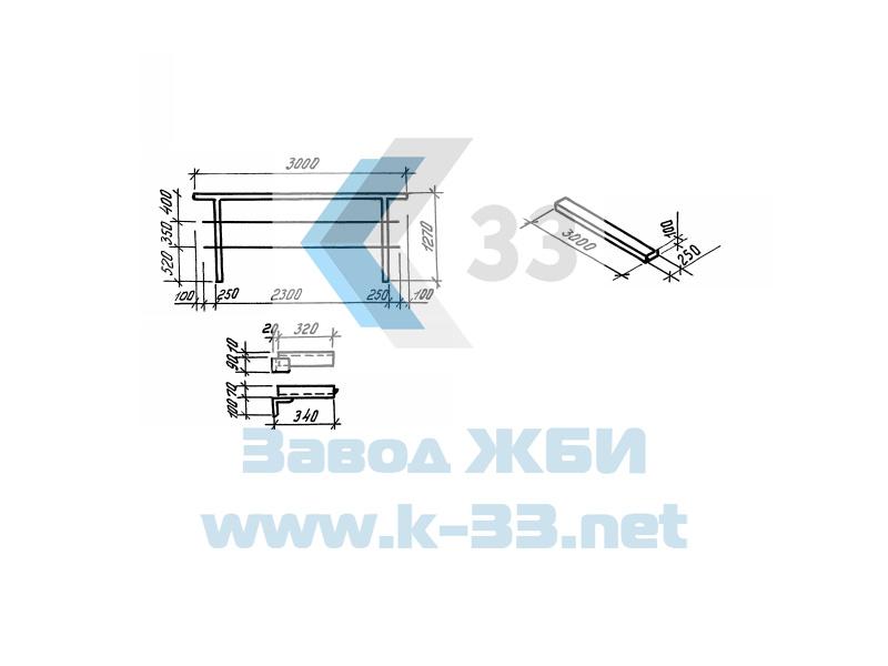 Железобетонные плиты для удлинения устоев железнодорожных мостов. Серия 3.501.1-167 в. 1
