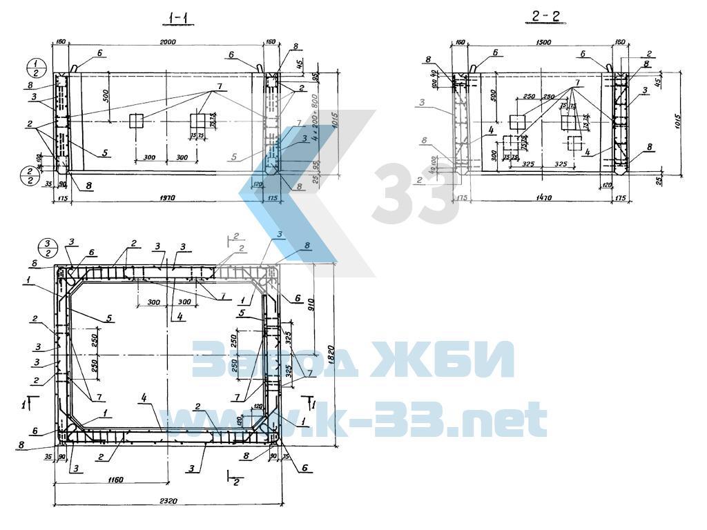 Секция башни железобетонная СБ15-20-1 - фото