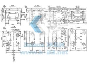 Блоки железобетонные сборных тепловых камер. Серия 3.903 КЛ-13 в. 1-3
