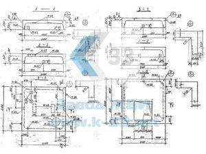 Блоки железобетонные с отверстием. Серия 3.903 КЛ-13 в. 1-5