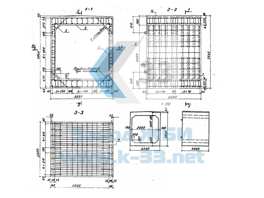 Звенья оголовка прямоугольных водопропускных труб. Серия 3.501.1-126