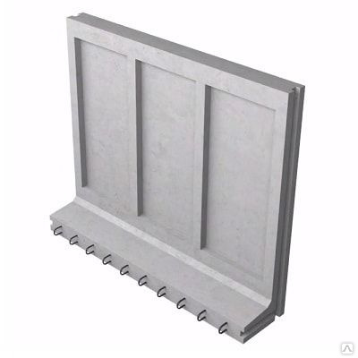 Коллекторный стеновой блок железобетонный КС-36 - фото