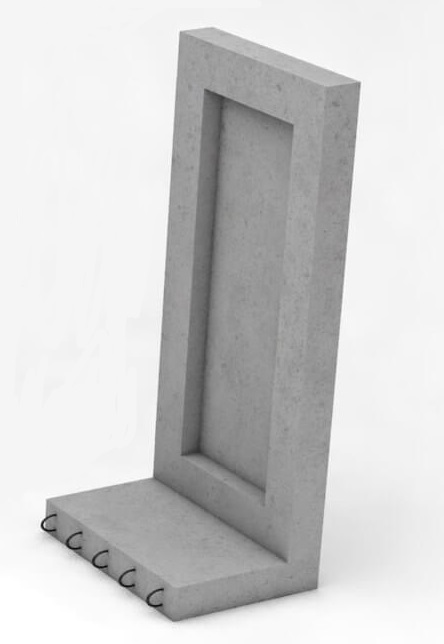 Коллекторный стеновой блок железобетонный (доборный элемент) КС-36д - фото