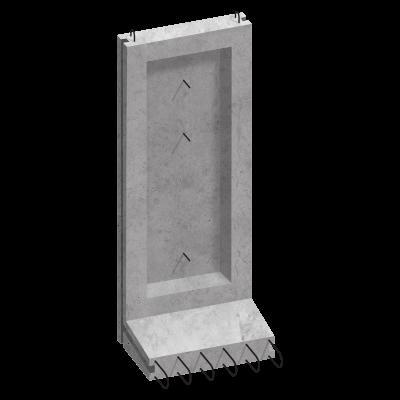 Коллекторный стеновой блок железобетонный КС-25 - фото