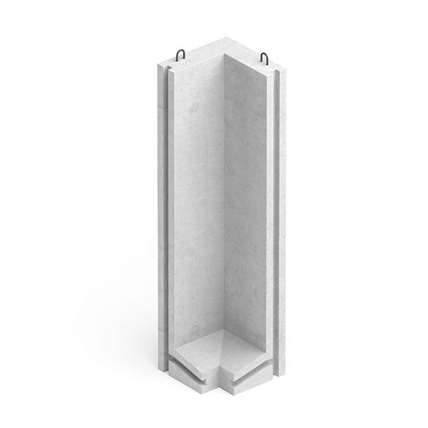 Коллекторный стеновой угловой блок железобетонный КУ-36 - фото