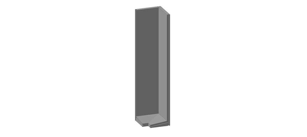 Коллекторный стеновой угловой блок железобетонный КУ-32 - фото