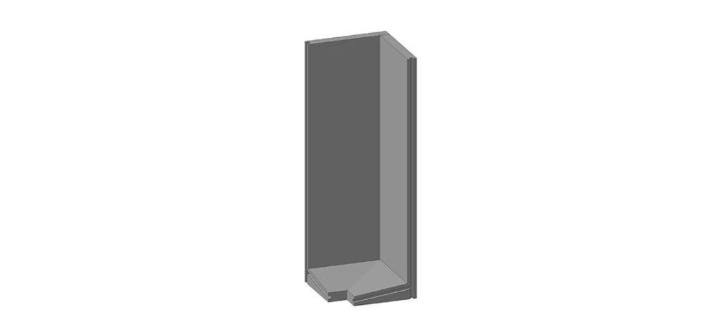 Коллекторный стеновой угловой блок железобетонный КУ-21 - фото