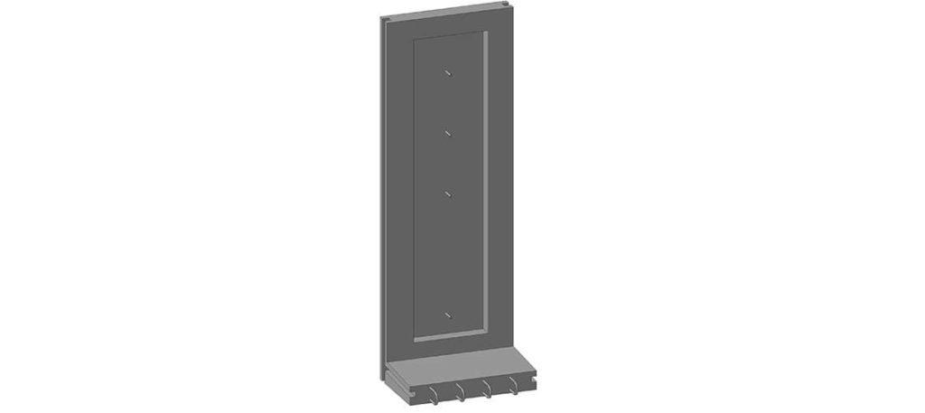 Коллекторный стеновой блок железобетонный (доборный элемент) КС-25д - фото