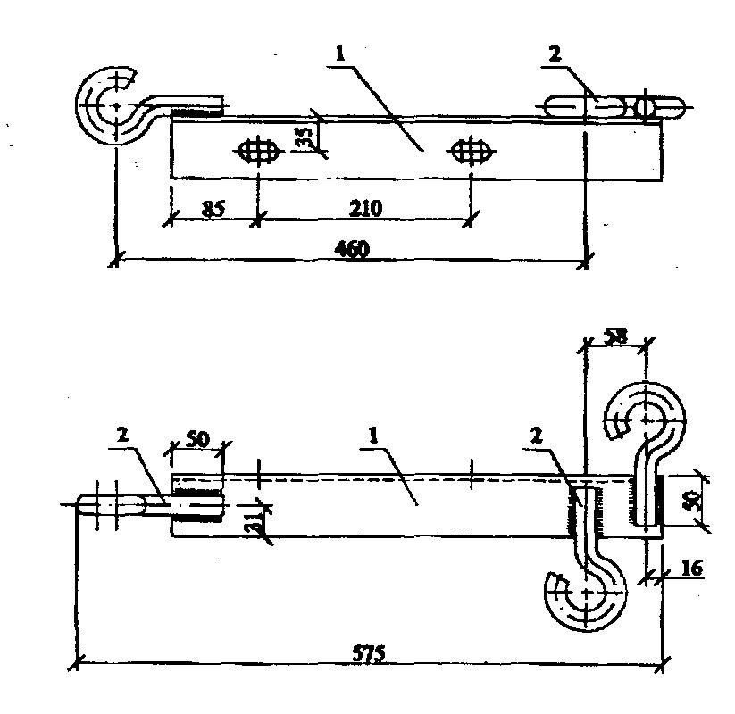 Траверсы низковольтные ТН-27 - чертеж