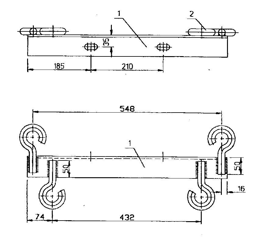 Траверсы низковольтные ТН-28 - чертеж