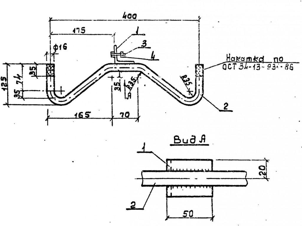 Траверсы низковольтные ТН-7 - чертеж