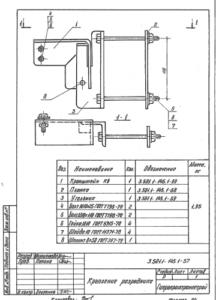 Крепление ОПН-10 (т.п.3.501.1-145.1-57)