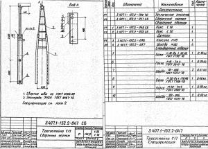 Тросостойка С17 (3.407.1-152.1) - фото