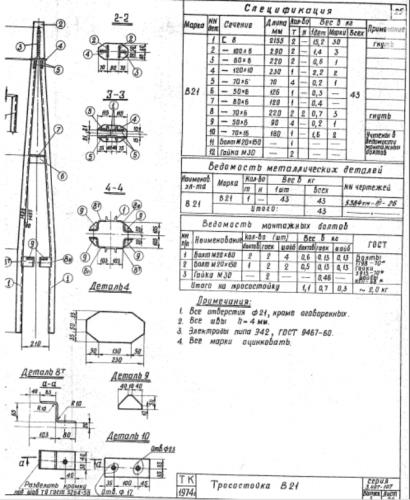Тросостойка В21 (3.407-107.3) - фото