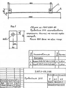 Заземляющий проводник ЗП-2 (4 м.) (3.407.1-136)