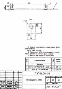 Заземляющий проводник ЗП-6 (4м) (ЛЭП98.08)